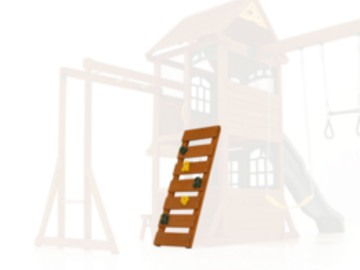 zest climbing frame with rock wall